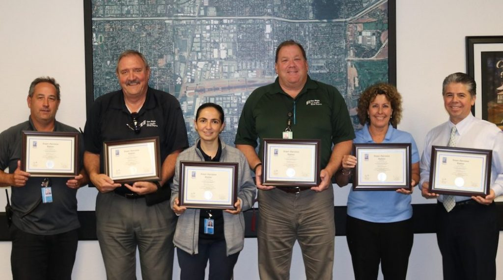 Six Airport Superintendents of Operations from Van Nuys Airport who graduated with a Diploma in Airport Operations.